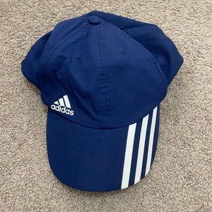 Men's blue and white Adidas cap